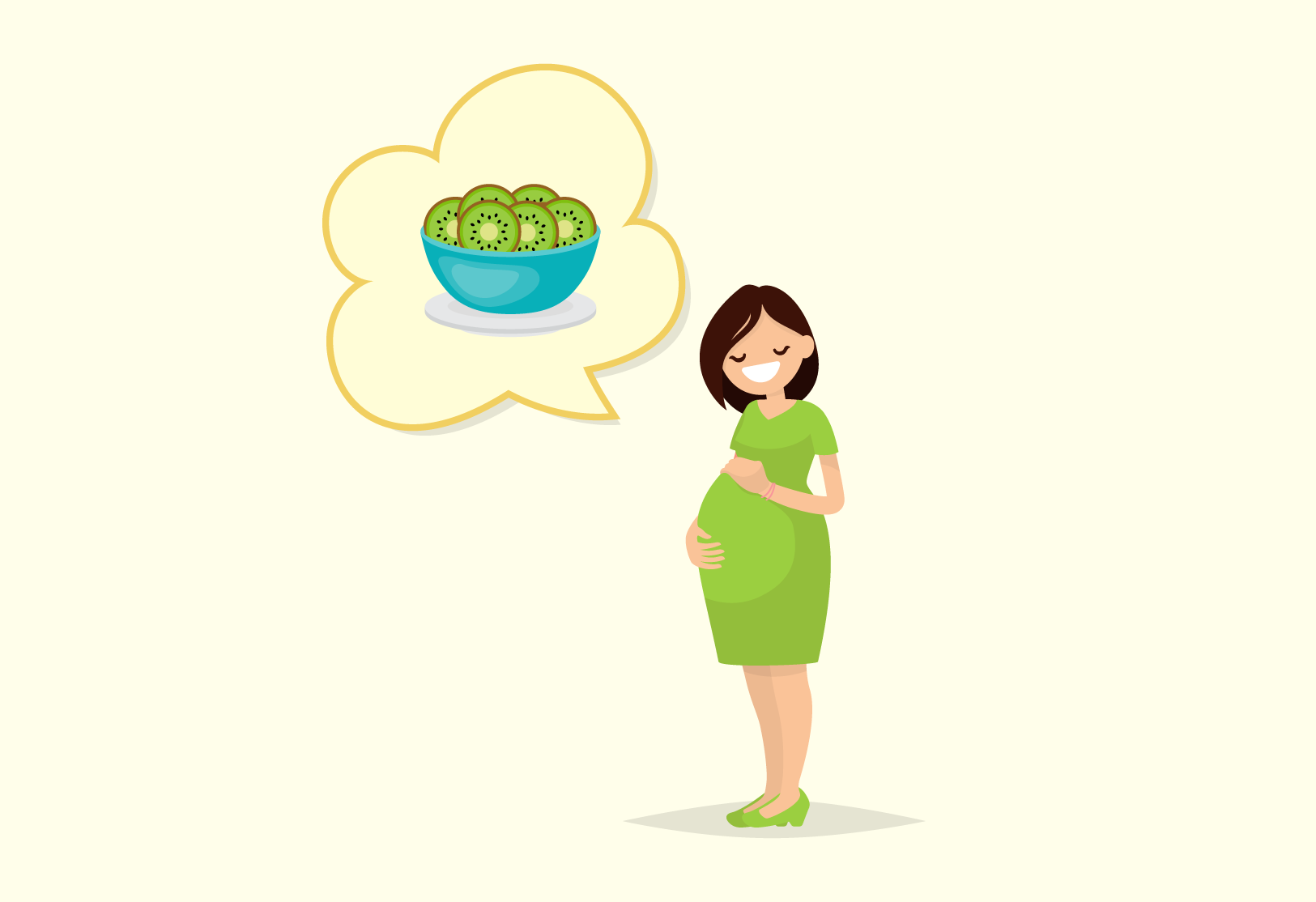 Zespri kiwifruit are a great choice when you're pregnant.