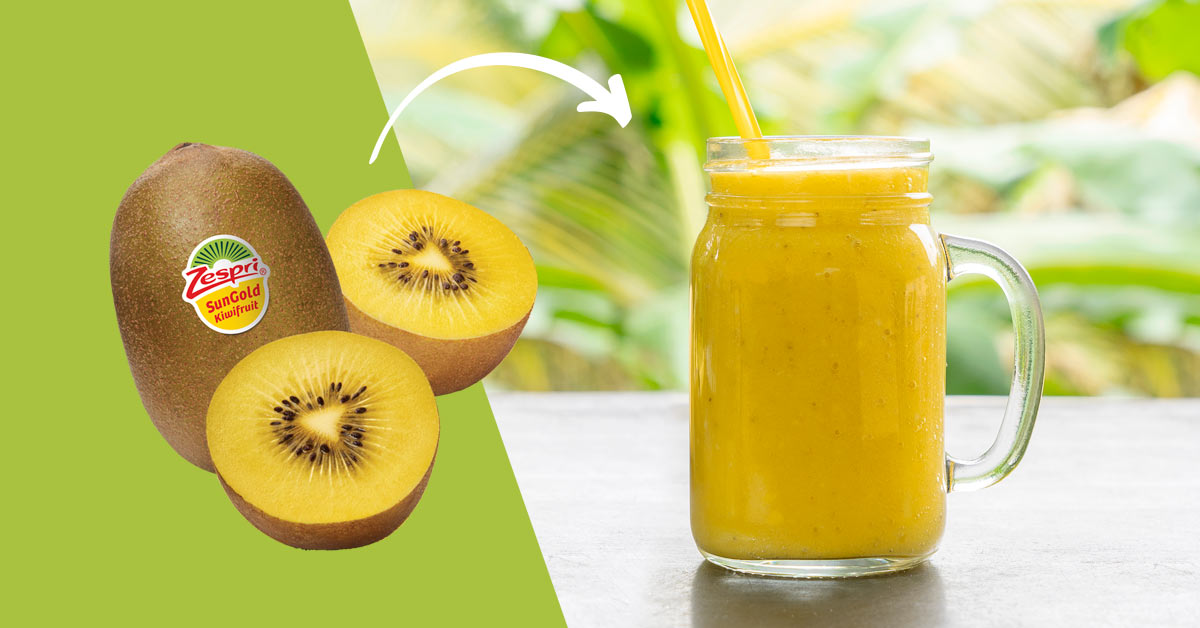 With a couple of Zespri SunGold kiwifruit to hand, you can quickly whizz up a nutrient packed smoothie that fulfils all your exercise needs.